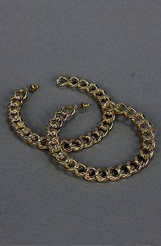 Chain Hoop Earrings (Gold) by Femme Freak