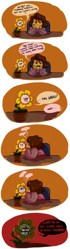 Frisk and Flowey - comic