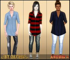 My Sims 3 Blog: Master Suite Boyfriend Shirt ~ Now as a top! by Anubis