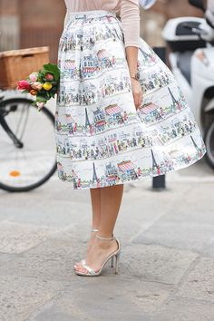 Women Trendy Printed Elegant High Waist All-match Bubble Midi Skirt - Lupsona Modest Fashion, Love Fashion, Womens Fashion, Unique Fashion, Mode Style, Style Me, Pretty Outfits, Beautiful Outfits, Quoi Porter