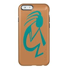 Teal Kokopelli Incipio Feather Shine iPhone 6 Case.  By #OneArtsyMomma $53.95
