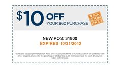 $10 off $60 Exp 10/31/12
