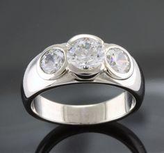 contemporary platinum ring set - Google Search... square diamonds