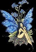 Tündér csillogó kék
