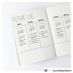 Calendario anual minimalista bullet journal