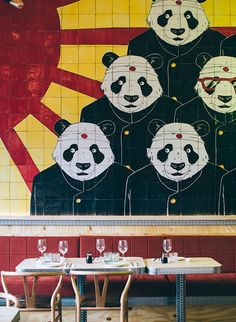The new Panda Restaurant in Bilbao is another twist to fusion cuisine . - The new Panda Restaurant in Bilbao is another twist to fusion cuisine: Asian street food with Medit - Bilbao, Asian Street Food, Chip And Joanna Gaines, Asian Design, Food To Go, Asian Decor, Rustic, Cool Stuff, High Chairs