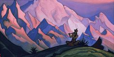 Krishna, 1946 by Nicholas Roerich. Symbolism. religious painting