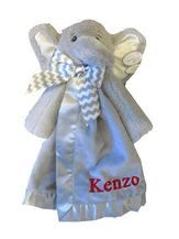 Elephant Security Blanket - Lil Spout Snuggler is a favorite at www.namelynewborns.com. Gray is newest cool color for kids.