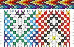 Normal Friendship Bracelet Pattern #10433 - BraceletBook.com