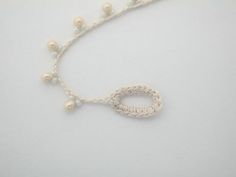 Crochet Beaded Necklace - Tutorial