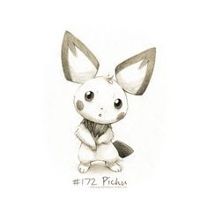 #172 Pichu - Drawings of Pokémon