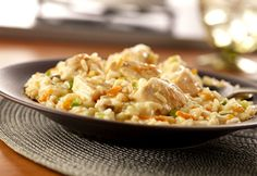 Creamy Chicken Risotto from Campbell's Kitchen Rice Dishes, Main Dishes, Chicken Risotto, Chicken Rice, Skillet Chicken, Campbell Soup Company, Campbells Recipes, Cooking Recipes, Healthy Recipes