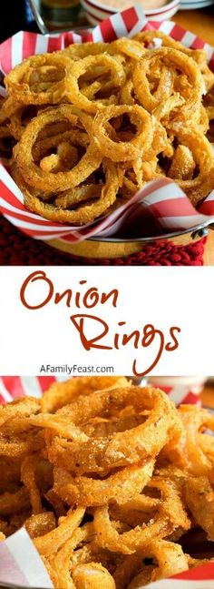 Onion Rings - It's easy to make light and crispy, restaurant-quality onion rings are home!