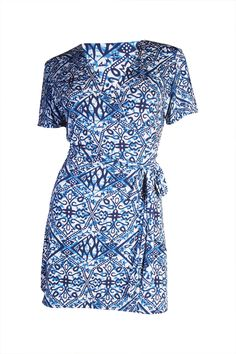 The Iconic Wrapped Dress - Porcelain Print - Customise Wrap Dress by Kristine's Collection Couturiere