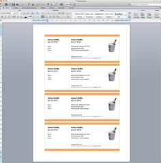 Raffle Ticket Creator: Create numbered raffle tickets in Word for Mac 2011