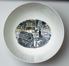 Queen's ware 'Boat Race Day' bowl designed by Eric Ravilious for Wedgwood