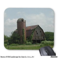 Old Barn Landscape by Janz Mouse Pad Presents For Him, Marketing, Landscape, Barns, Photography, Collections, Friends, Design, Amigos
