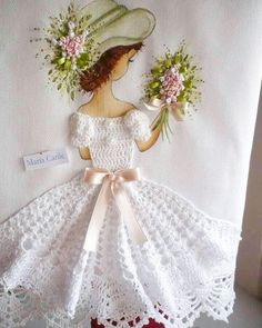 Crochet chicken edging don t Crochet Art, Crochet Home, Crochet Crafts, Crochet Dolls, Crochet Stitches, Embroidery Stitches, Crochet Projects, Sewing Projects, Silk Ribbon Embroidery