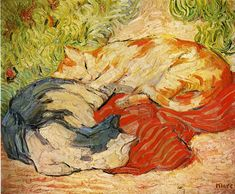 FRANZ MARC. Cats, 1910, oil on canvas