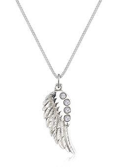 Let's fly away! Diese feine Silberkette aus hochwertigen 925er Sterling Silber besitzt einen modernen Flügel-Anhänger. Funkelnde Zirkonia Steine sorgen für einen extra Blickfang und bringen dich zum Strahlen. Mit dieser Flügel-Halskette setzt du modische Akzente mit femininem Design. Egal, ob du diese selber tragen oder verschenken möchtest, wirst du dich für beste Qualität entscheiden.  Produk...