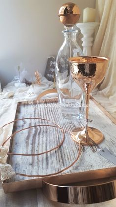 Σετ γάμου σε ροζ χρυσό,επαργυρο σετ με σφυρηλατο ποτήρι σετ με ξύλινο δίσκο με ροζ χρυσό by valentina-christina handmade products καλέστε 2105157506 #γαμος #wedding #stefana#χειροποιητα_στεφανα_γαμου#weddingcrowns#handmade #weddingaccessories #madeingreece#handmadeingreece#greekdesigners#stefana#setgamou#στεφαναγαμου#σετ_γάμου Xmas, Christmas, Big Day, Our Wedding, Champagne, Wedding Decorations, Weddings, Yule, Yule