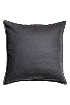 Charcoal gray. PREMIUM QUALITY. Cushion cover in washed linen with a concealed zip.