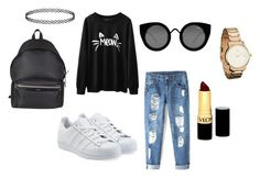 """Untitled #105"" by iamditta on Polyvore featuring adidas Originals, Yves Saint Laurent, Quay and Revlon"