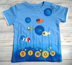 Camiseta personalizada nombre niño peces