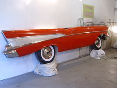 1957 Chevy full side wall hanging. Interested? Contact us at http://www.benniesfifties.com