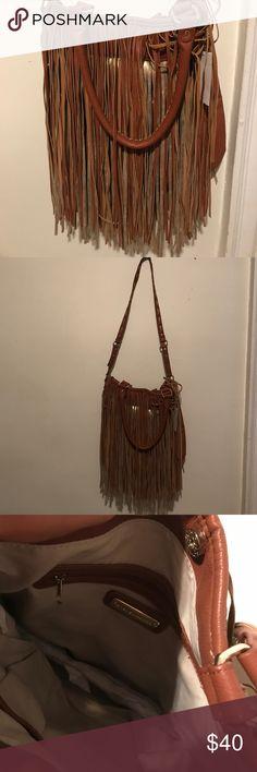 Boho chic brown fringed Steve Madden bag New! Never worn fringed Steve Madden bag Steve Madden Bags Crossbody Bags