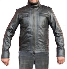 classic men leather jackets for men.