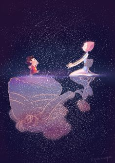 Steven universe rose pearl and steven