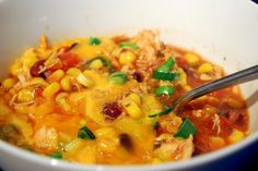 Chicken Enchilada Soup by theskillettakes #Soup #Chicken #Enchiladas #theskillettakes
