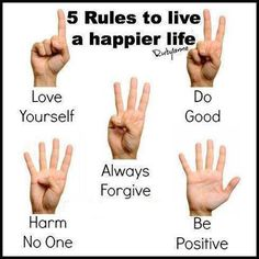 5 rules for a happier life