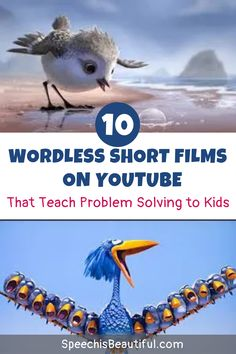 10 wordless short films on youtube that teach problem solving – I use these videos with in my speech therapy (and teletherapy sessions) with older elementary students. You will be surprised how much language you will get from your most quiet kids as they figure out how to solve the characters' problems. - Speech is Beautiful #videosspeechtherapy #shortfilmsspeechtherapy #speechtherapyshorts #speechtherapyideas