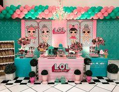 Decoração de Festa Infantil Boneca Lol Surprise    #lolsurprise  #festalolsurprise  #festamenina  #decoraçãololsurprise