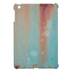 Turquoise Rusted Metal iPad Mini Cover