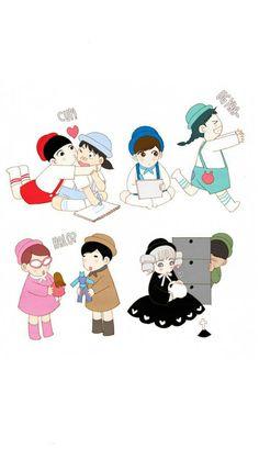 credit belongs to Spirit Fingers, Kyoungchal Han Manga Love, Manga To Read, Spirit Fingers Webtoon, Korean Illustration, Spirited Art, Manhwa Manga, Mystic Messenger, Chibi, Art Drawings