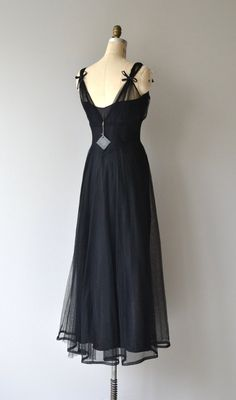 Bona Nox Kleid 1930er Jahre Vintage Kleid lange von DearGolden