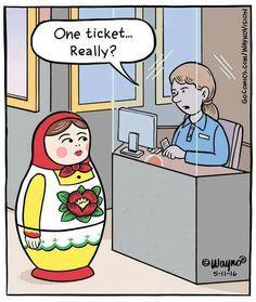 One ticket... really? #matryoshka