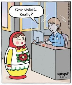 One ticket... really? #matryoshka