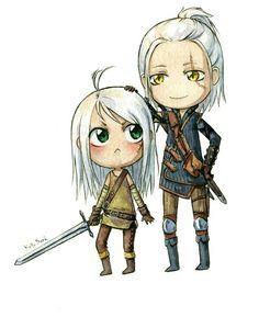 Ciri and Geralt :3