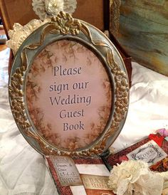 Wedding Guest Book Sign  Ready to ship by youruniquescrapbook, £18.99