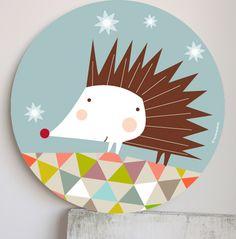 Image of Cuadro Infantil Erizo-Porcupine wall art