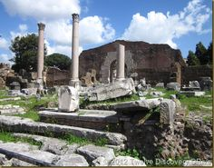 The Forum in Rome, Italy.  Beautiful Ruins