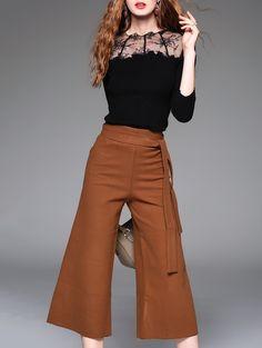 6cdba03f3403 Cotton-blend Sleeve Two Piece Jumpsuit