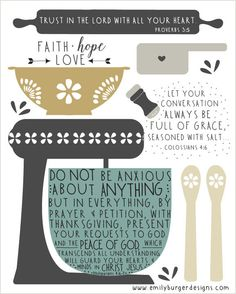 Scripture reminders for the kitchen 8 by 10 by EmilyBurgerDesigns