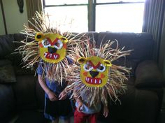 Fun Family Crafts: Making an African Lion Mask