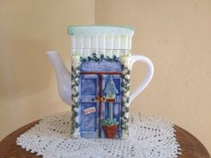 Vintage Adorable Decorative Garden Shop Tea Pot by JoAnntiques