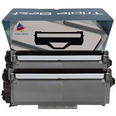 2 Pack Brother TN660 (TN-660) / TN630 High Yield Black Laser Toner Cartridges